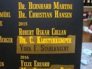 Diakontafel St. Petri Domgemeinde Bremen Schrift