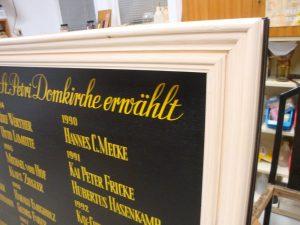 Diakontafel St. Petri Domgemeinde Bremen Rahmen