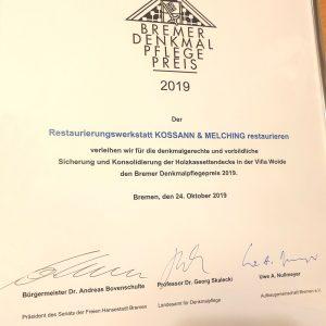 Bremer denkmalpflegepreises bremen Denkmalpflegepreis 2019